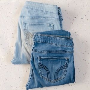 ✨BUNDLE✨ TWO PAIRS OF HOLLISTER SKINNY JEANS